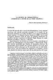 LA MUERTE DE CHIMALPOPOCA. EVIDENCIAS A FAVOR DE LA ...