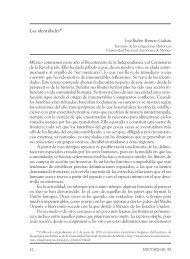 Las identidades* 3 - Instituto de Investigaciones Históricas - UNAM