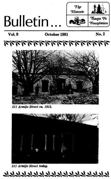 Bulletin ... - Historic Santa Fe Foundation
