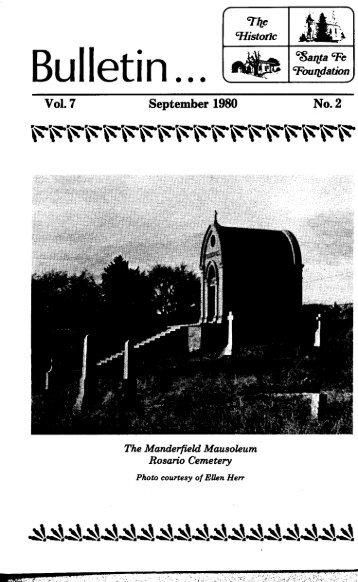 Manderfield Mausoleum - Historic Santa Fe Foundation