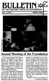 BULLETIN - Historic Santa Fe Foundation
