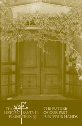 Download Endowment Brochure - Historic Santa Fe Foundation