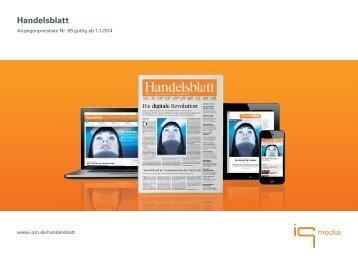 Handelsblatt - Preisliste 2014 - IQ media marketing