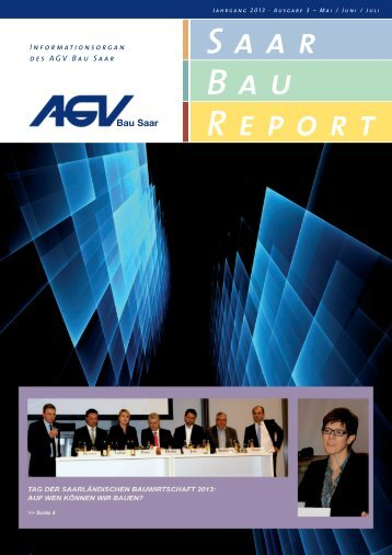 Saar Bau Report Nr. 3/2013 - AGV Bau Saar