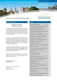 Amtsblatt der Stadt Bayreuth