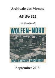 """""""Archivalie des Monats"""" - Stadt Bitterfeld-Wolfen"""