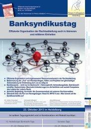 Banksyndikustag - Finanz Colloquium Heidelberg