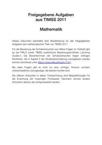 TIMSS 2011: Freigegebene Items Mathematik mit ... - Bifie