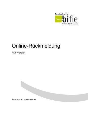 Online-Rückmeldung - Bifie