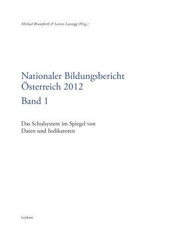 Nationaler Bildungsbericht Österreich 2012 Band 1 - Bifie