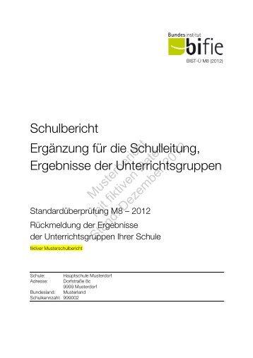Schulbericht II M8 - Bifie