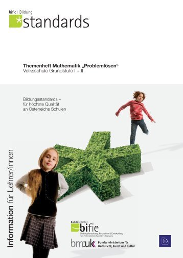 """Themenheft Mathematik """"Problemlösen"""". Volksschule ... - Bifie"""