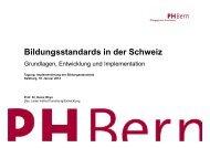 Heinz Rhyn: Bildungsstandards in der Schweiz - Bifie