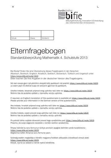 Elternfragebogen M4 2013 - Bifie