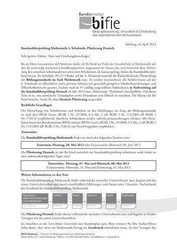 Deutsch: M4 und Pilotierung D4 - Bifie