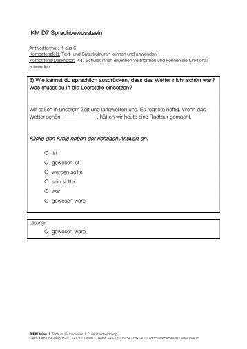 Freigegebene Tasks IKM D7 Sprachbewusstsein (2010) - Bifie