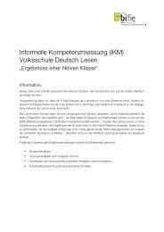 (IKM) Volksschule Deutsch Lesen - Bifie