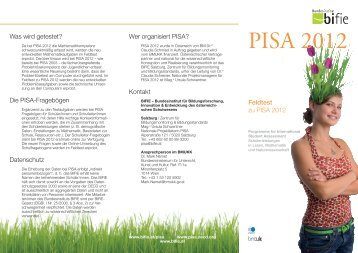 PISA 2012 Folder Feldtest - Bifie