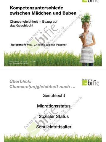 TIMSS 2007 Kompetenzunterschiede zwischen Mädchen und ... - Bifie