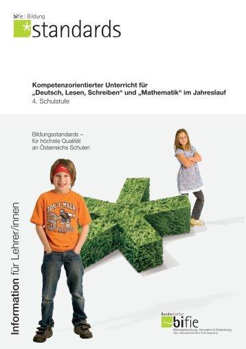 """Kompetenzorientierter Unterricht für """"Deutsch, Lesen ... - Bifie"""