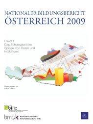 Nationaler Bildungsbericht Österreich 2009, Band 1 - Bifie