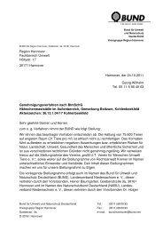 Stellungnahme des BUND - BUND Kreisgruppe Region Hannover ...