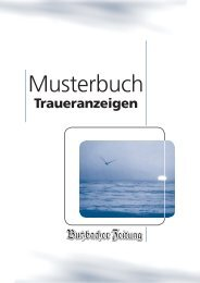 Traueranzeigen - Butzbacher Zeitung