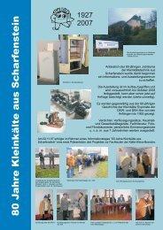 Unser Flyer für November/Dezember 2007 - Historische Kleinkälte ...