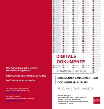 Programmflyer - Johannes Gutenberg-Universität Mainz