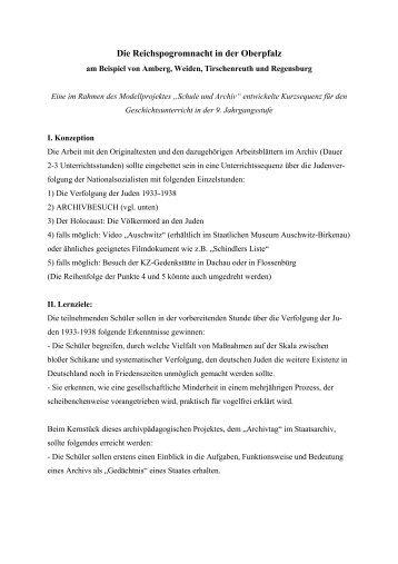Die Reichspogromnacht in der Oberpfalz - Historisches Forum Bayern