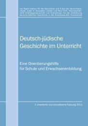 Deutsch-jüdische Geschichte im Unterricht - Stiftung