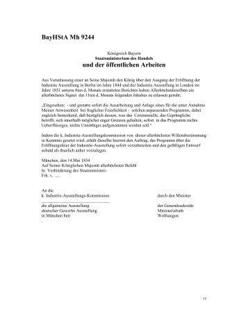 BayHStA Mh 9244 und der öffentlichen Arbeiten - Historisches ...