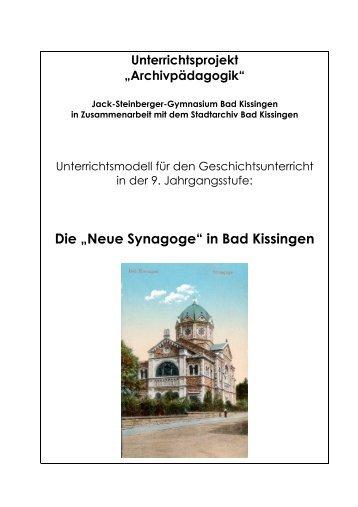 """""""Neue Synagoge"""" in Bad Kissingen I - Historisches Forum Bayern"""
