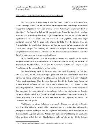 Stadt im Mittelalter I - Historisches Forum Bayern