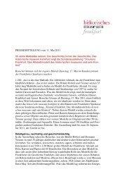 PM Treuners Frankfurt - Historisches Museum Frankfurt - Frankfurt ...