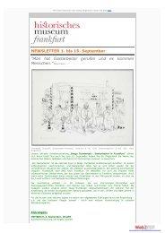 Newsletter 1. - 15. September 2013 - Historisches Museum Frankfurt