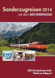 Sonderzugreisen2014 - AKE-Eisenbahntouristik