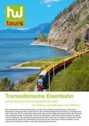 Transsibirische Eisenbahn - Bieler Tagblatt