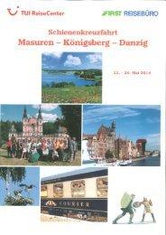 Masuren - Königsberg - Danzig - First Reisebüro
