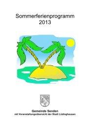 Sommerferienprogramm 2013 (PDF-Datei) - Gemeinde Senden