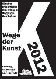 Aktueller Flyer und Wegweiser für Wege der Kunst - Host Europe