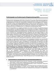 Positionspapier zur Evaluierung der Düngeverordnung (DüV)
