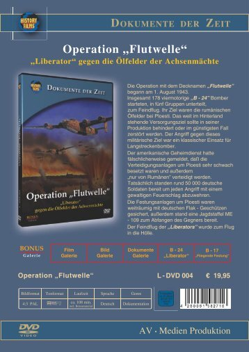 """Operation """"Flutwelle"""" """"Liberator"""" gegen die ... - bei History Films"""