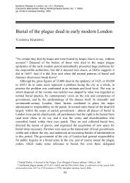Burial of the plague dead in early modern London