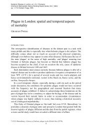 Plague in London: spatial and temporal aspects of mortality