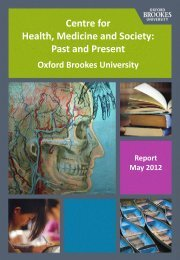 Centre Interim Report - Oxford Brookes University - Department of ...