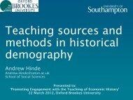Presentation - Oxford Brookes University - Department of History