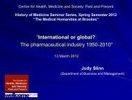 Presentation - Department of History - Oxford Brookes University