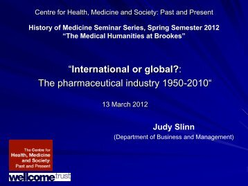 Presentation - Department of History - Oxford Brookes University