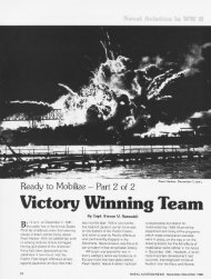 Ready to Mobilize, Part 2, Victory Winning Team - Naval History and ...